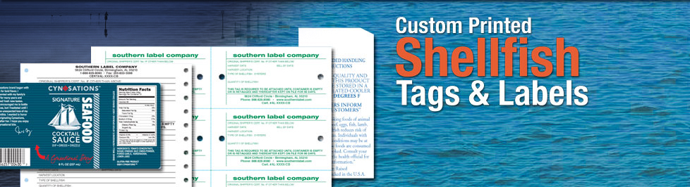 Custom Printed Shellfish Tags & Labels